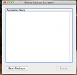 iPhone Backup Extractor起動